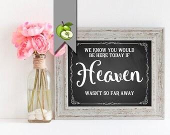 wedding sign, heaven sign, vintage chalkboard sign, memorial sign, Table sign, in memory, download, wedding printable, loving memory, C4K