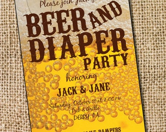 Diaper and Beer Party - PRINTABLE