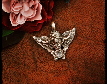 Garuda Pendant - Sterling Silver Garuda Pendant - Hindu Silver Pendant - Mythological Amulet - Garuda Jewelry