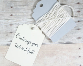 Cream Thank You Tags Set of 20 - Ivory Gift Tags - Merchandise Tags - Price Tags - Wish Tree - Thank You Favors - Baby Shower - Party Favors