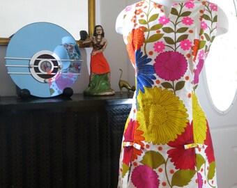 Vintage 1960s floral romper dress