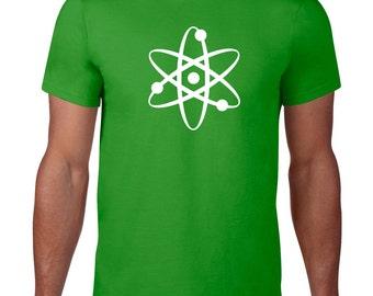 Geek T Shirt, Science Tshirt, Atom Tshirt, Funny Science Shirt, Ringspun Cotton, Geeky Tshirt, Geek Tee, Atom T Shirt, Mens Plus Size