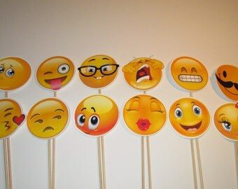 Emoji Photo Booth Props!! Great for Birthday's Parties, Weddings and Holiday's