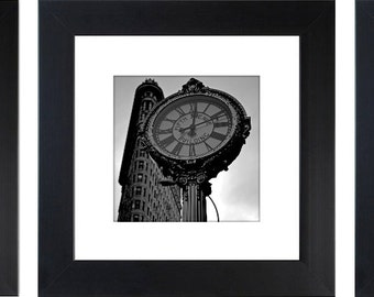 New York Triptych, New York Collage, Brooklyn Bridge, Fifth Avenue Clock, Statue of Liberty, New York Print, New York Photography