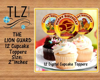 The Lion Guard Cupcake Toppers -  Instant Download Printable Digital Files