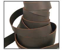 "Genuine Leather Strips, Leather Straps, Leather Cuffs; Brown Oil Tan Leather; WiDTHS: 3/8"", 1/2"", 3/4"", 1"", 1 1/2"", 2"", 3"""