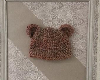 Chunky Baby Hat with Bear Ears