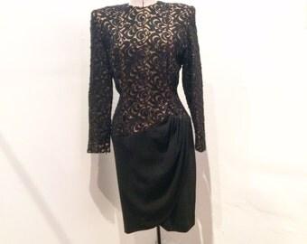 Balmain Ivoire black wool dress size 40. NEW PRICE!