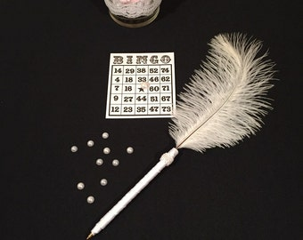 White Feather Pens Bridal Shower Games PRIZES/Favor White Baby Shower Favors Wedding Shower Favors Baby Shower Game Prizes Decorations Pens