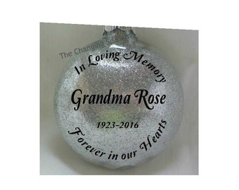 Personalized In Loving Memory Ornament, Forever in our hearts, Remembrance ornament, Personalized Memorial Ornament, In Memory Keepsake