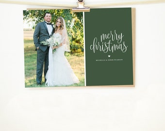 "Personalized Christmas Card • ""Evergreen"""