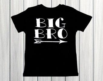Big Bro arrow shirt boy shirt big brother shirt pregnancy announcement shirt big bro shirt hipster boy shirt big little shirt sibling shirt