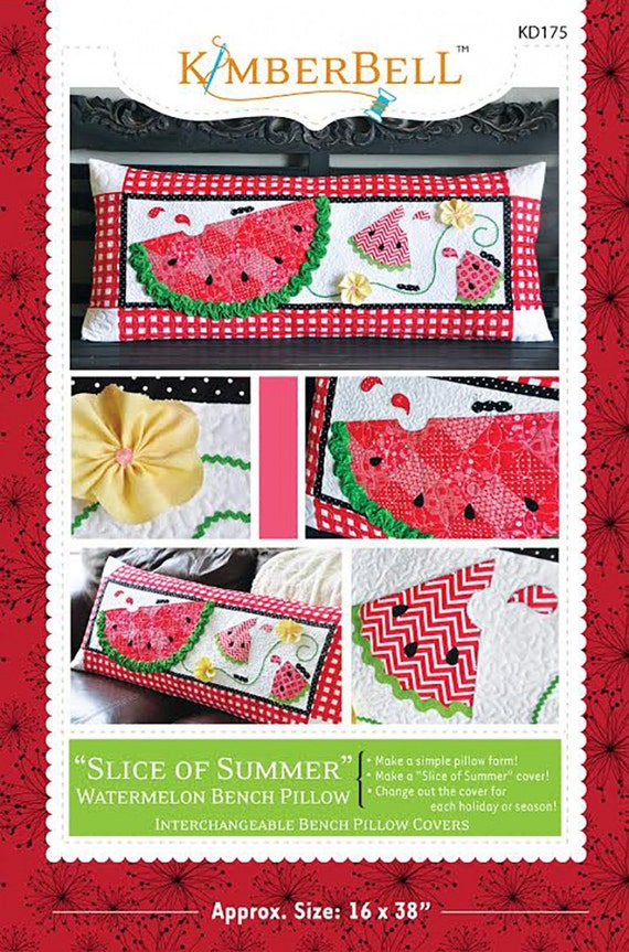 bench pillow pattern slice of summer by kimberbell pattern only kd175 quilted pillow. Black Bedroom Furniture Sets. Home Design Ideas