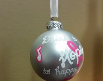 DMB lyric glass Christmas ornament - What would you say - Dave Matthews Band