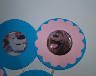 Pet Cupcake Toppers, Pet Theme Party Toppers, Dog Toppers, Cat Toppers, Pet Birthday Cupcake Toppers