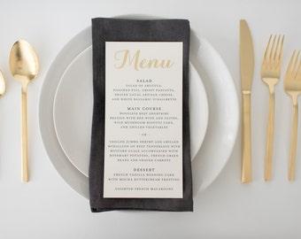 grace gold foil wedding menus (sets of 10)  // lola louie paperie