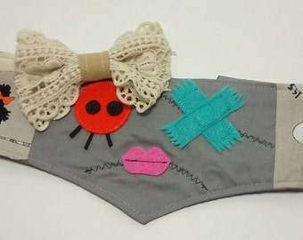 Zombie girl Critter Band! zombie headband, zombie mask, zombie costume, zombie dress up, zombie little girl, little girl zombie, zombie hat