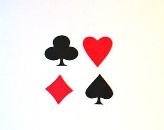 Poker Die Cuts - All Sizes - Heart - Spade - Club - Diamond - Playing Card Die Cuts - Spade Die Cut - Diamond Die Cut - Club Die Cut
