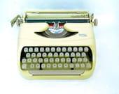 royal typewriter working yellow typewriter wedding decor gift for writer bohemian decor vintage 1960s mid century royalite 64