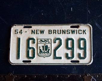1954 New Brunswick License Plate - 16-299