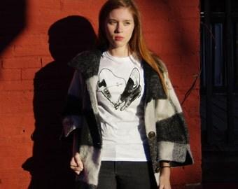 Apple Buffalo Heart // Handmade Screen Printed Tee Shirt