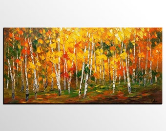 Oil Painting, Canvas Art, Framed Art, Original Art, Abstract Art, Impasto Texture Palette Knife Art, Canvas Painting, Landscape Painting