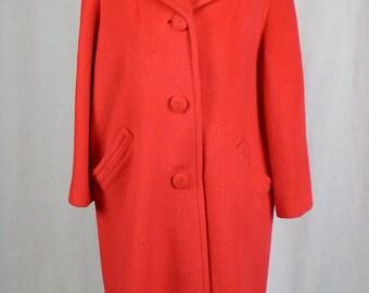 Vintage 1950s Stevens Andover Wool/Mohair Women's Coat