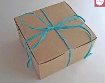 "Kraft Boxes 7x7x4"", Gift Boxes, Favor Boxes, Cupcake Boxes, Set of 25."