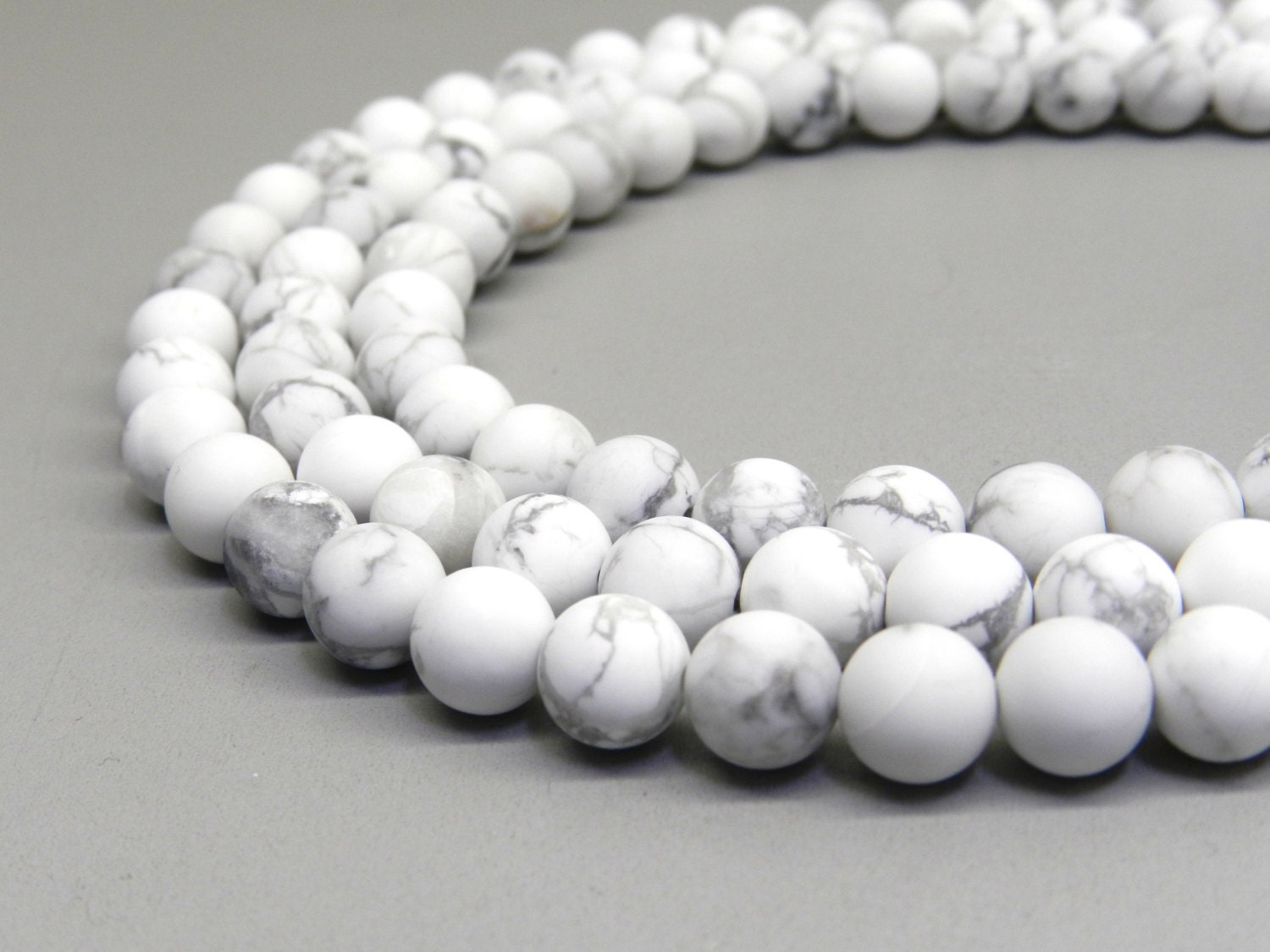 Howlite Beads, Matte Howlite, 8mm Beads, Frosted Beads ...