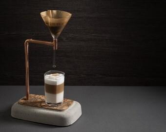 «Cafetière» pour puriste café cafetière en béton