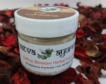Saffron Blossom Herbal Face Mask - Tridoshic (organic)