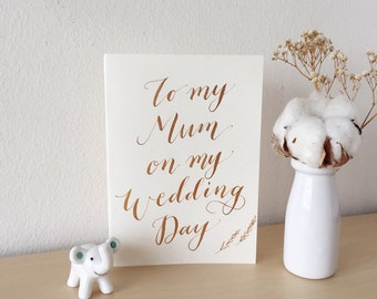 """Handlettered """"To My Mum"""" Card 