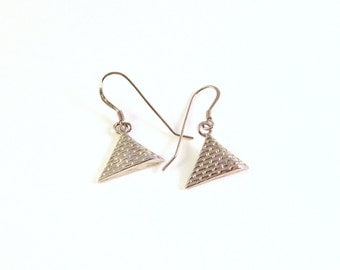 Sterling Silver Egyptian Pyramid Earrings