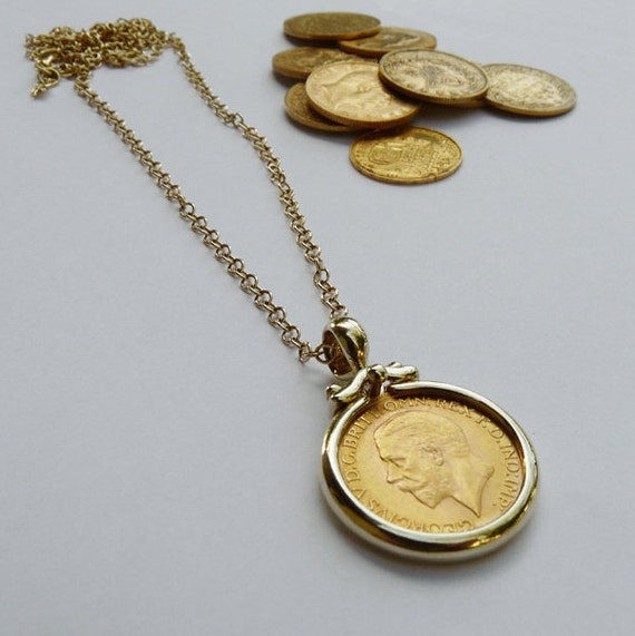 Sovereign coin pendant medallion gold pendant necklace like this item aloadofball Images