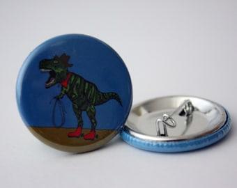 Dinosaur Badge t-rex badge cowboy badge