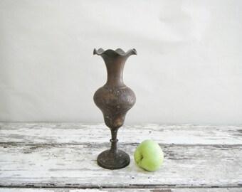 Aged Brass Vase