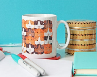 Guinea pig mug, Guinea pig cup, Cute mugs, Ceramic mug, Gift for her, Tea cup, Coffee cup, Animal mug, Cute mug design, Home and Living,