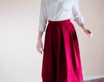 Plain Skirt - Cotton Made to Measure Modest Skirt Mennonite all sizes available long skirt Amish skirt Mennonite skirt modest long skirt