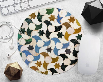 Mousepad Mouse Pad Office Mousepad Gift for Coworker Morocco MousePad Star Mouse Pad Office Supplies Decor Desk Accessories Tile MouseMat
