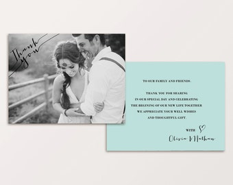 Wedding Thank You Card ( Printable )
