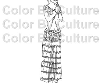 Fashion Coloring Book Ancient Chinese