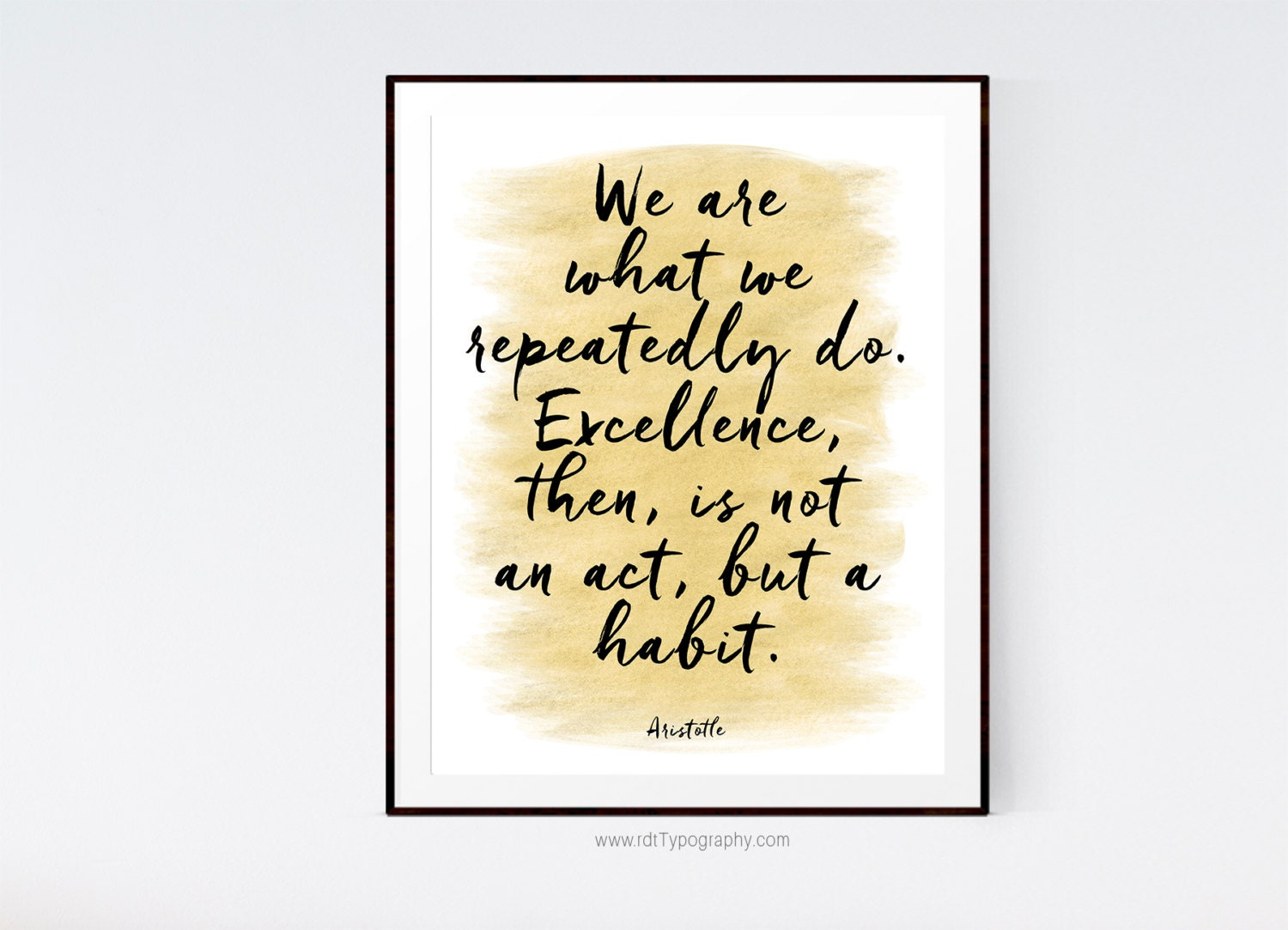 Inspirational Quotes Aristotle By Ibbds: Aristotle Wall Art Inspirational Quote Motivational Print