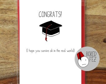 The Real World | Funny Student Graduation Card