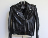 Vintage Biker Jacket // Leather King Motorcycle Jacket // Women's Large Men's Medium