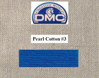 DMC Pearl 3 - Dark Royal Blue - Color 796 - 15 Meters - By the Skein