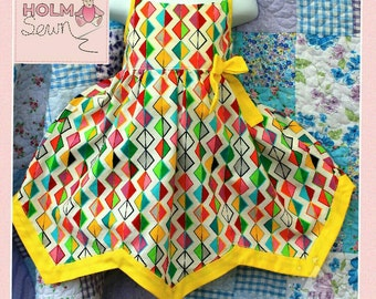 Handmade chevron hem dress - made to order in your fabric choice