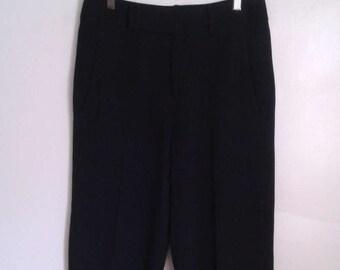 Helmut Lang Minimalist Black Long Bermuda Shorts Sz 2 Classic Menswear Inspired