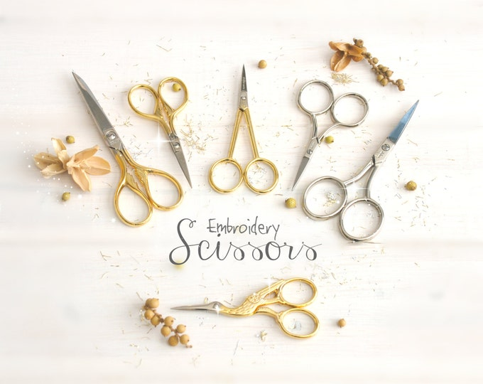 Featured listing image: Embroidery Scissors - Small Scissors - Small Shears - Ribbon Scissors - Sharp Small Scissor - Design Embroidery Scissors - Crane Snips