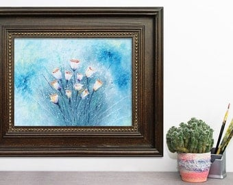 Floral wall art Living room Floral painting Flower prints Floral print Botanical print Flower wall art Floral art print Office decor