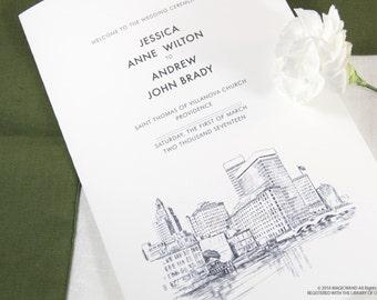 Providence Skyline Wedding Programs (set of 25 cards)